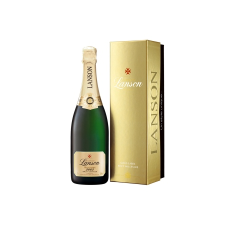 Champagne Lanson Gold Label Millesime 2002 en Coffret