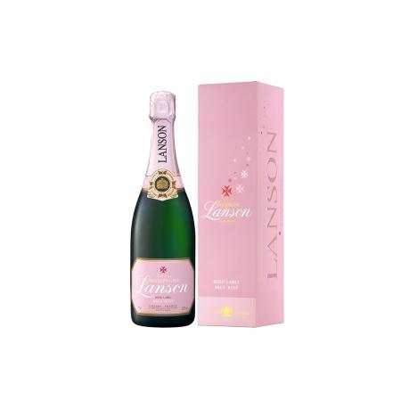 Champagne Lanson Rosé Label avec étui